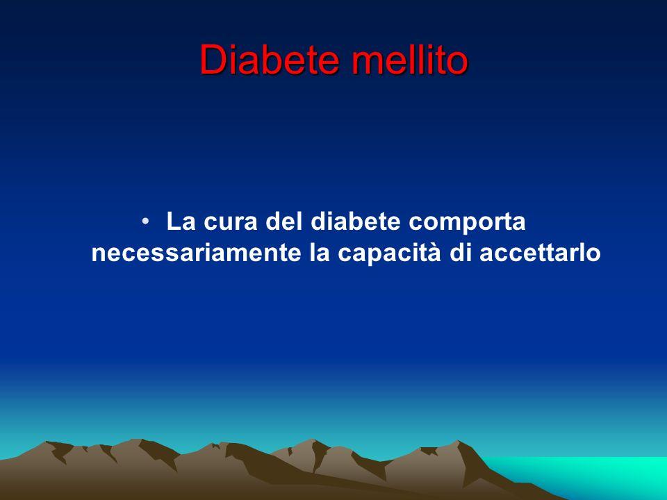 La cura del diabete comporta necessariamente la capacità di accettarlo