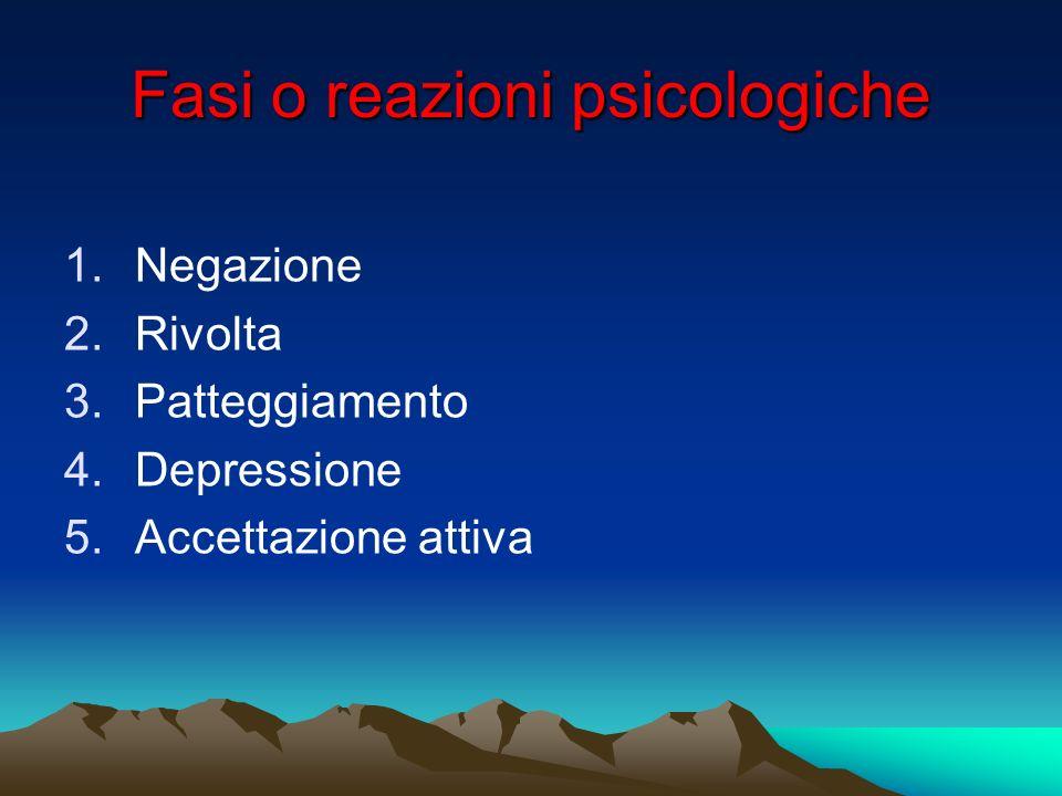 Fasi o reazioni psicologiche