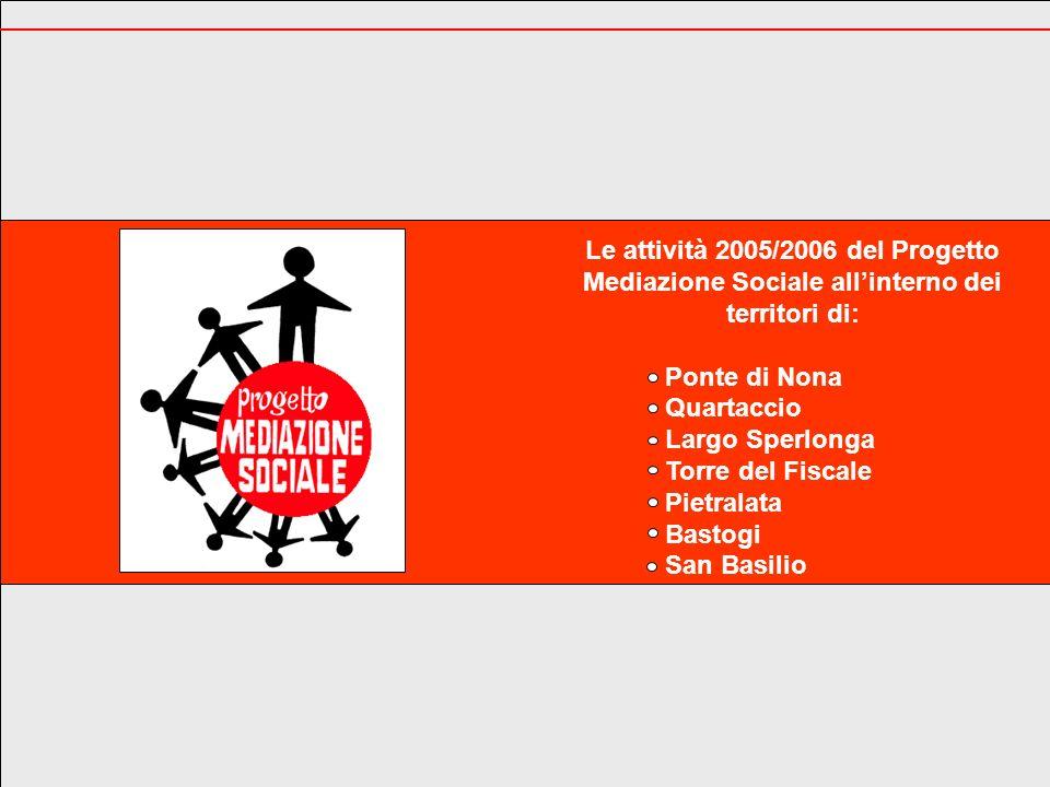 Le attività 2005/2006 del Progetto Mediazione Sociale all'interno dei territori di: