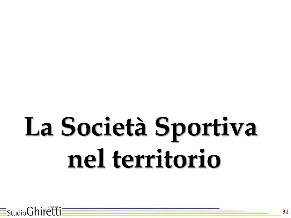 La Società Sportiva nel territorio