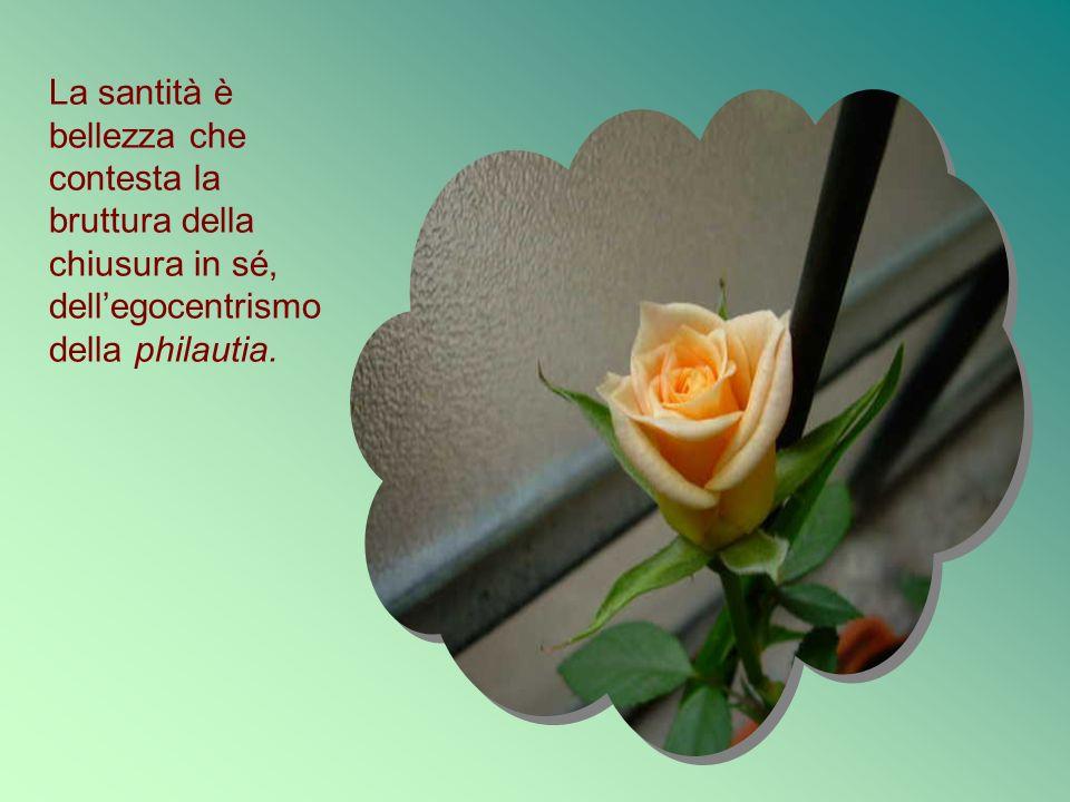 La santità è bellezza che contesta la bruttura della chiusura in sé, dell'egocentrismo della philautia.