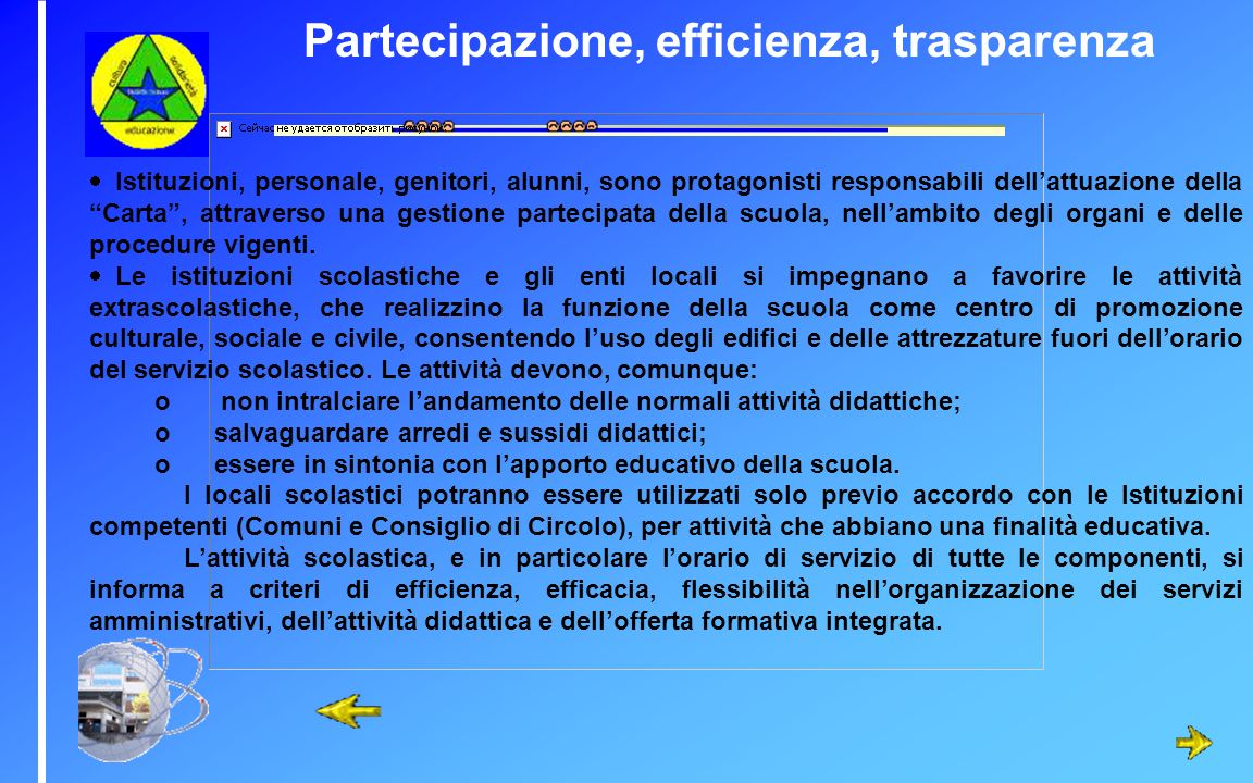 Partecipazione, efficienza, trasparenza