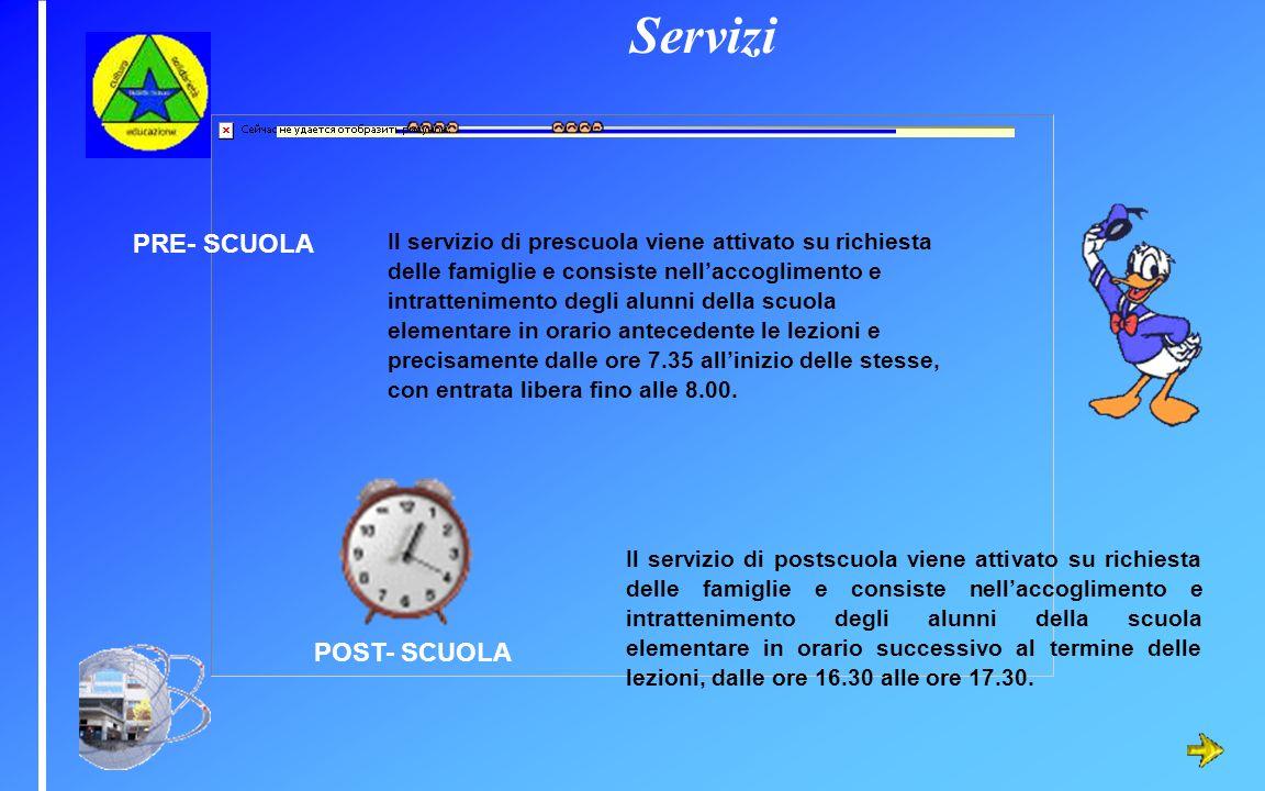 Servizi PRE- SCUOLA POST- SCUOLA