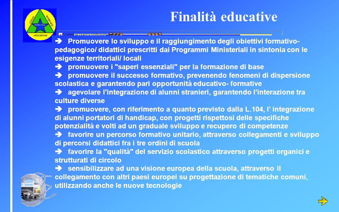 Finalità educative
