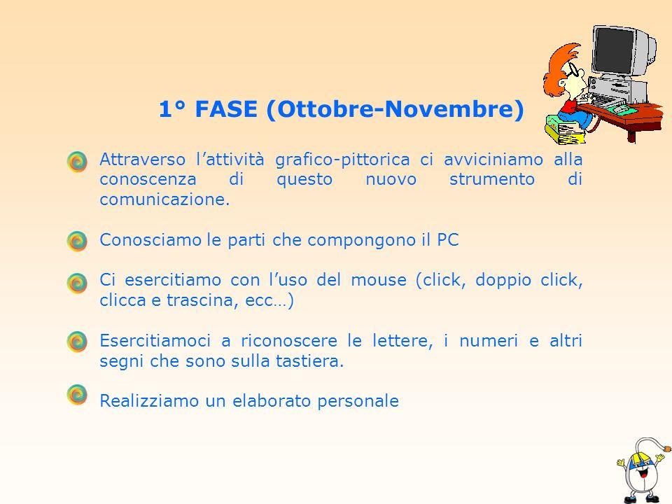 1° FASE (Ottobre-Novembre)