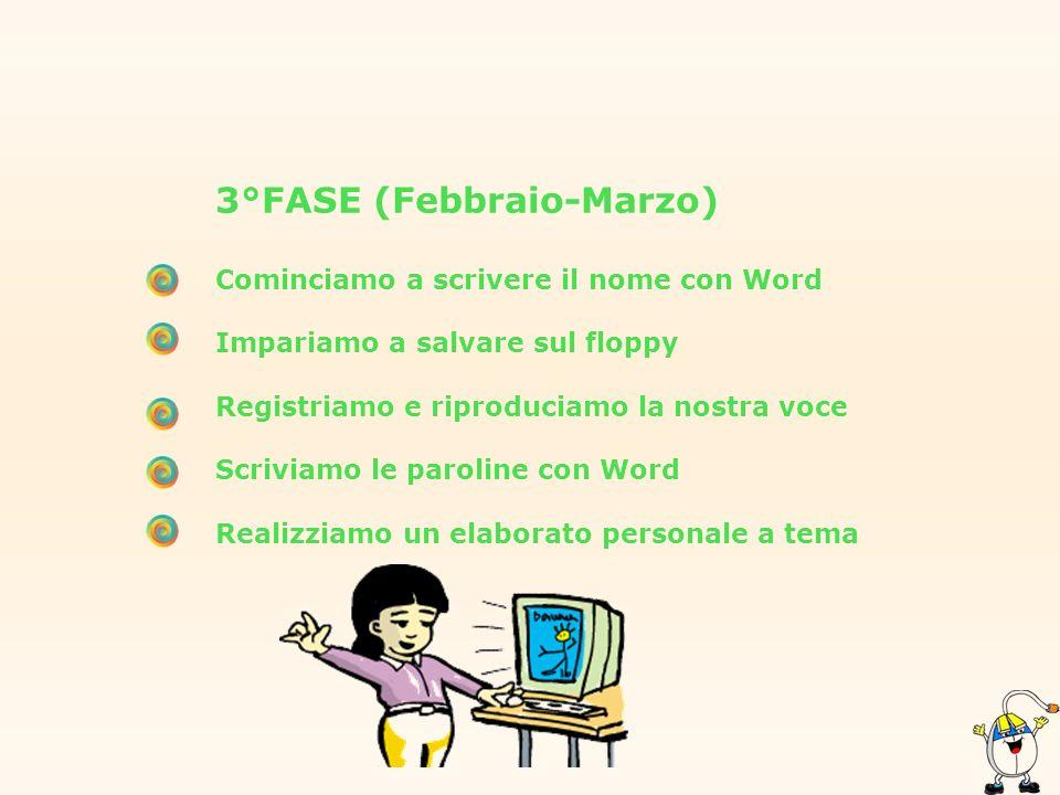 3°FASE (Febbraio-Marzo)