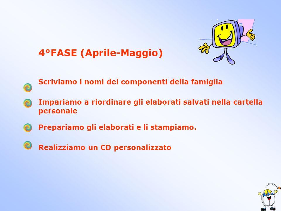4°FASE (Aprile-Maggio)