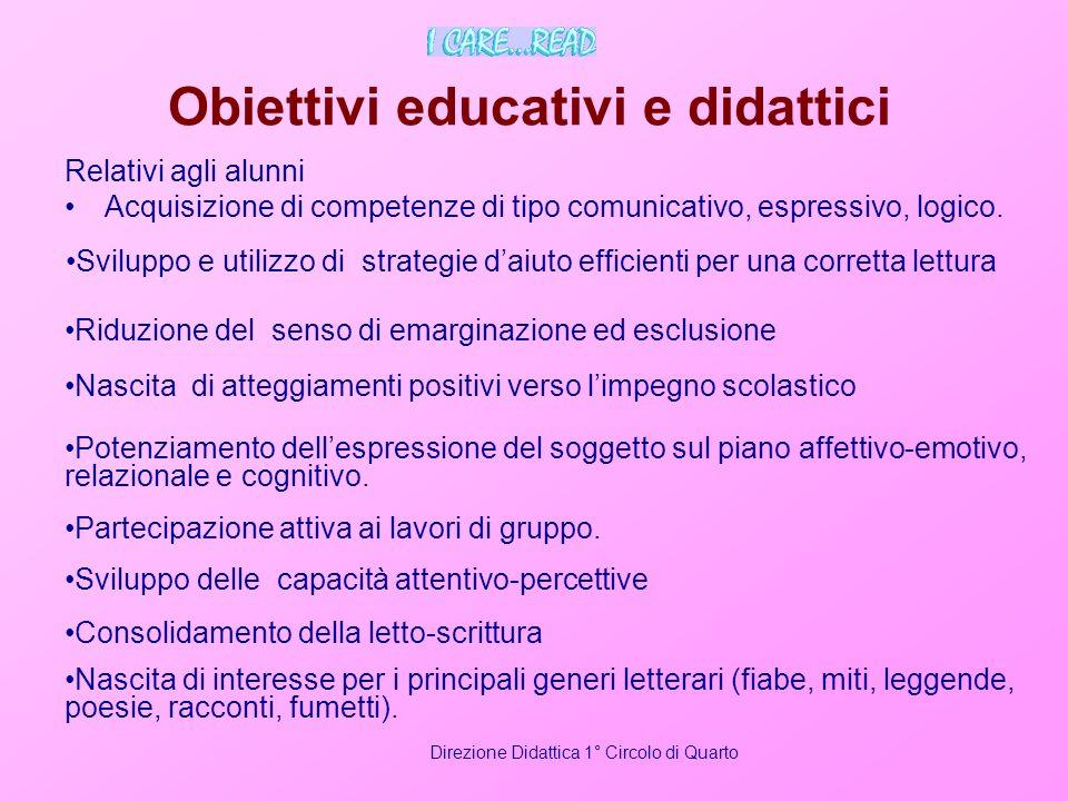 Obiettivi educativi e didattici