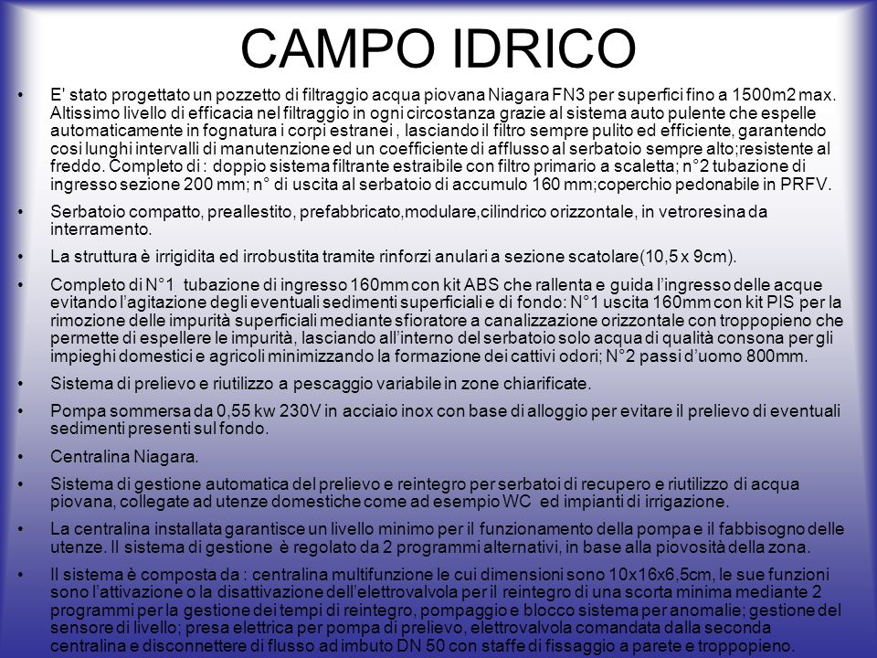 CAMPO IDRICO