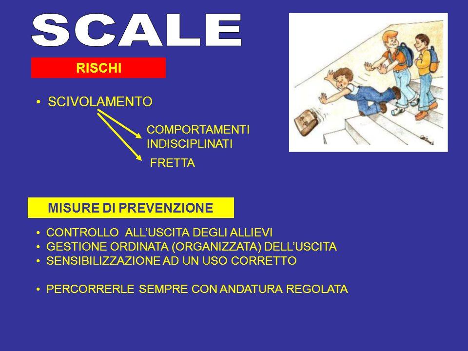 SCALE RISCHI SCIVOLAMENTO MISURE DI PREVENZIONE