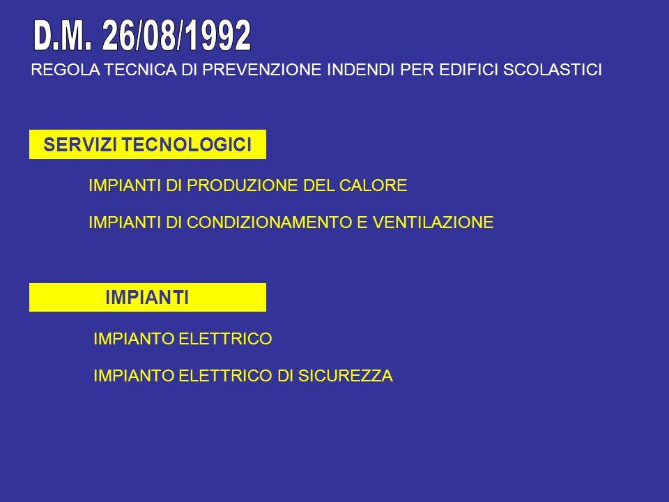 D.M. 26/08/1992 SERVIZI TECNOLOGICI IMPIANTI