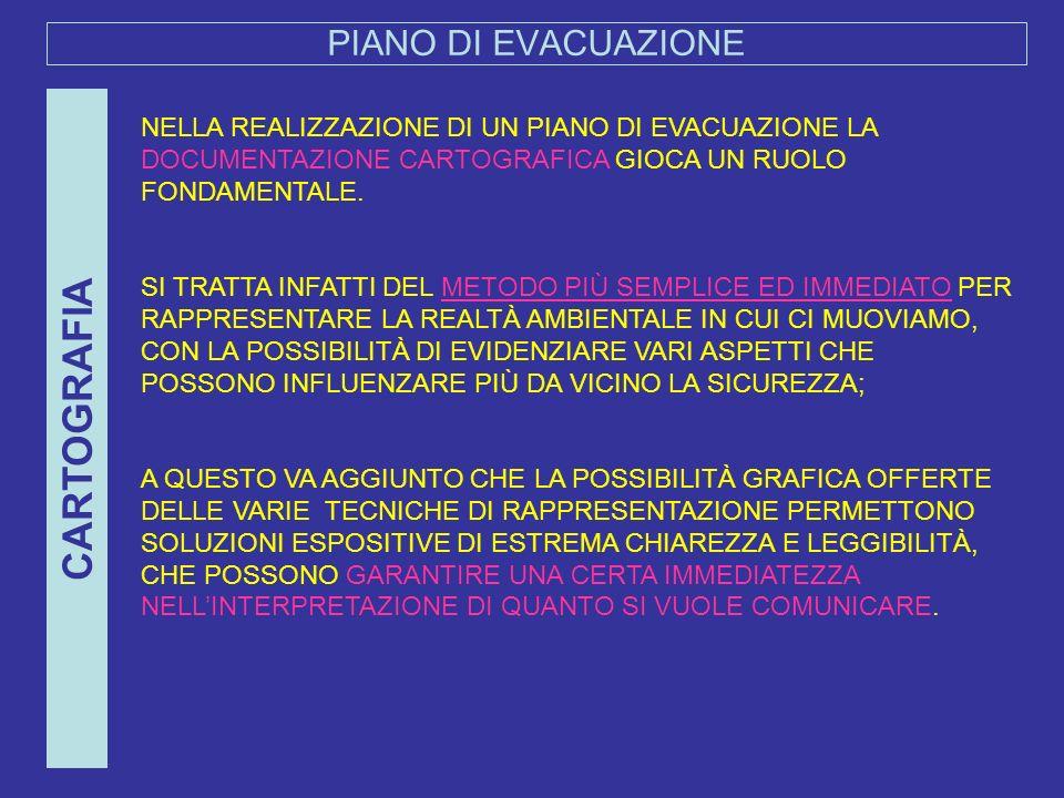 CARTOGRAFIA PIANO DI EVACUAZIONE