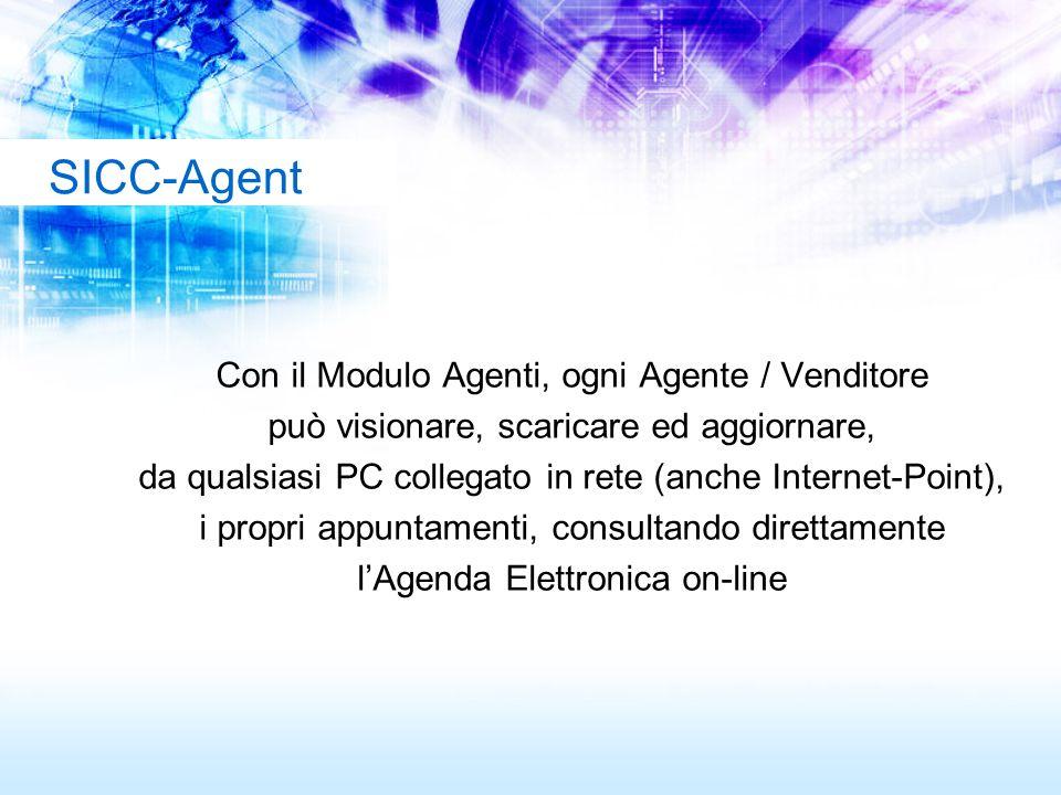 SICC-Agent Con il Modulo Agenti, ogni Agente / Venditore