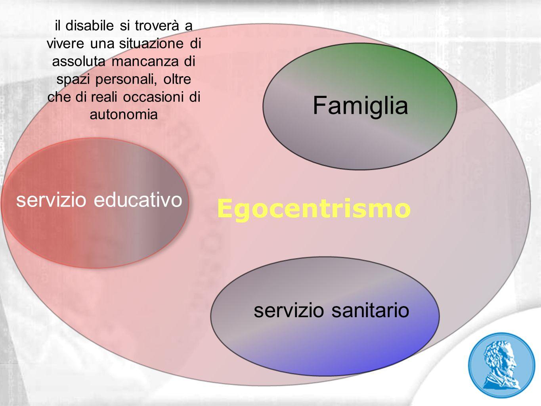 Famiglia Egocentrismo servizio educativo servizio sanitario