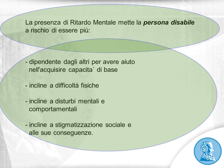 La presenza di Ritardo Mentale mette la persona disabile a rischio di essere più: