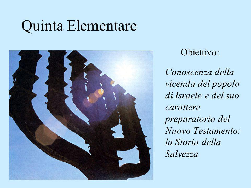 Quinta Elementare Obiettivo: