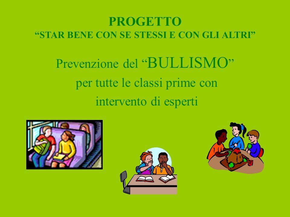 PROGETTO STAR BENE CON SE STESSI E CON GLI ALTRI