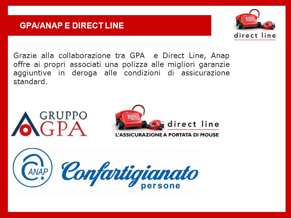 GPA/ANAP E DIRECT LINE