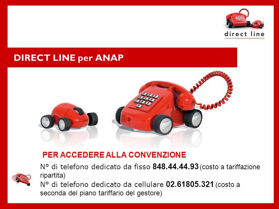 DIRECT LINE per ANAP PER ACCEDERE ALLA CONVENZIONE