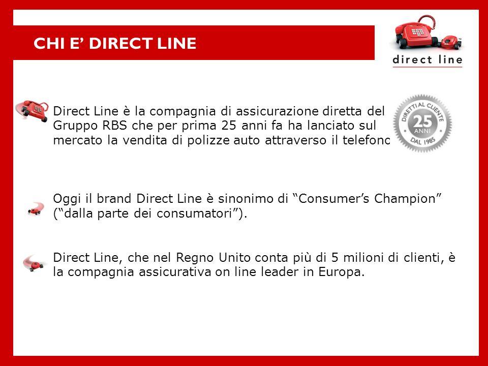 CHI E' DIRECT LINE Direct Line è la compagnia di assicurazione diretta del. Gruppo RBS che per prima 25 anni fa ha lanciato sul.