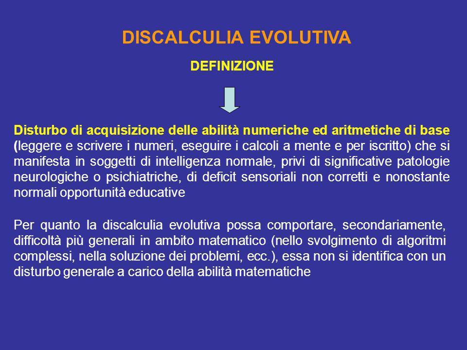 DISCALCULIA EVOLUTIVA