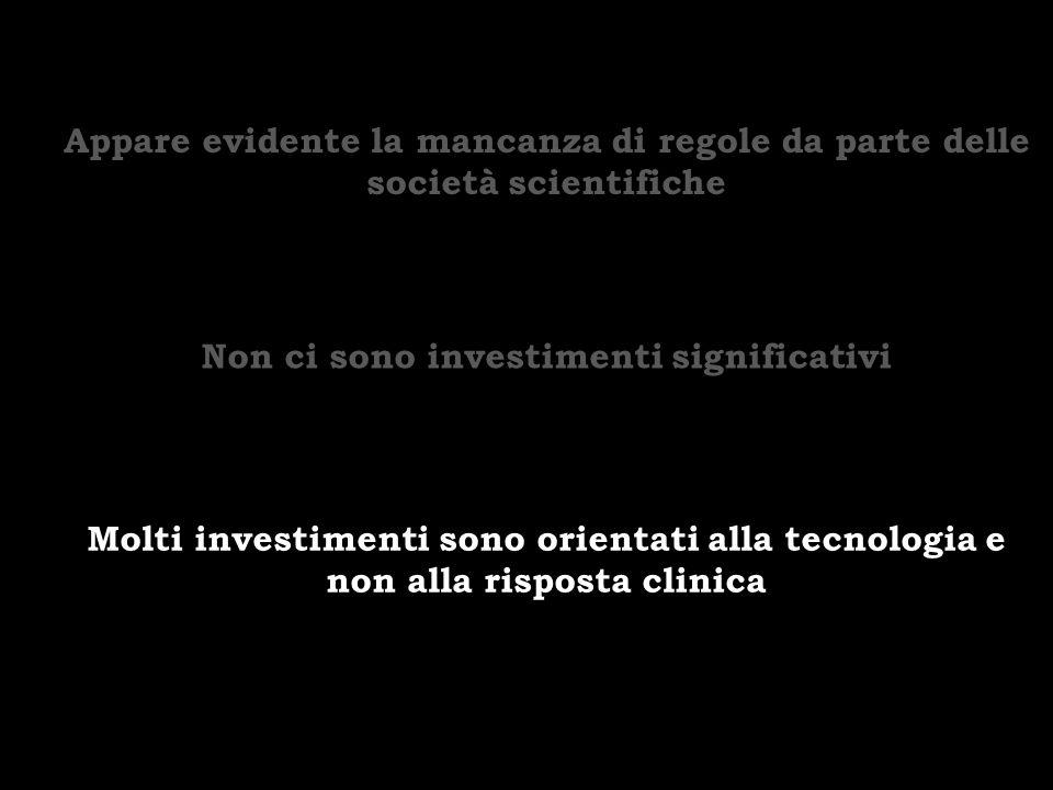 Non ci sono investimenti significativi