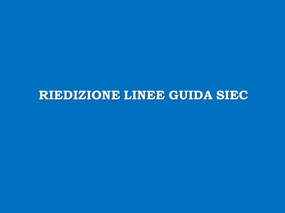 RIEDIZIONE LINEE GUIDA SIEC