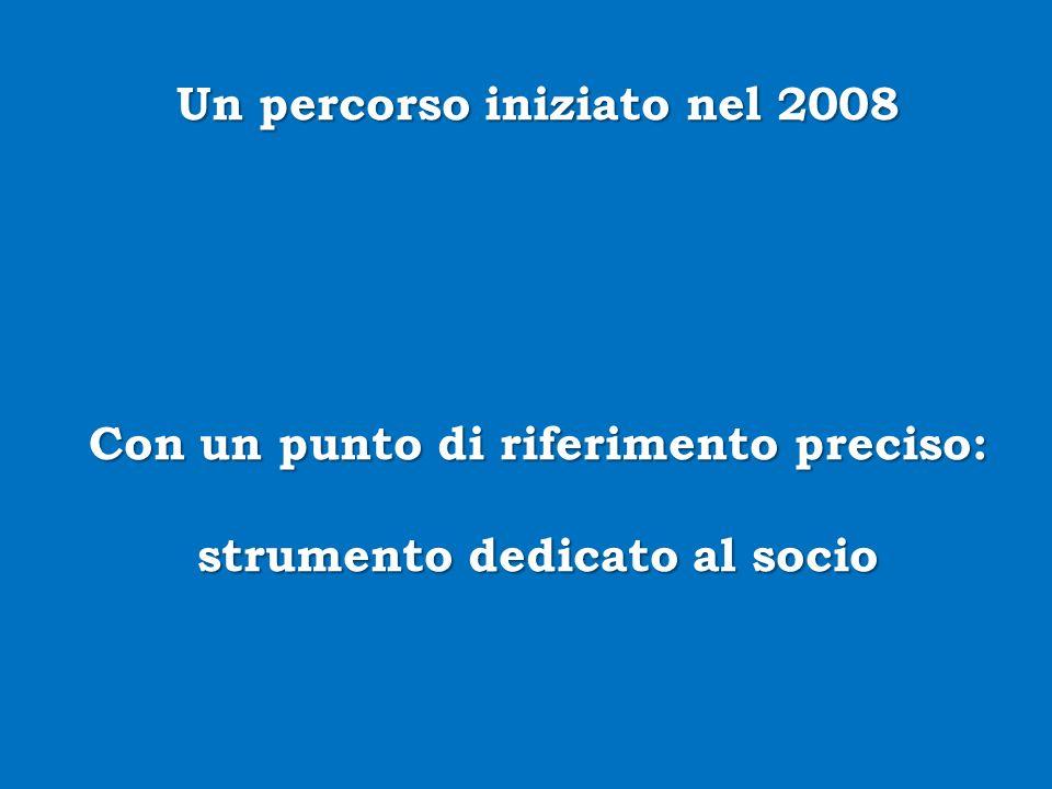 Un percorso iniziato nel 2008