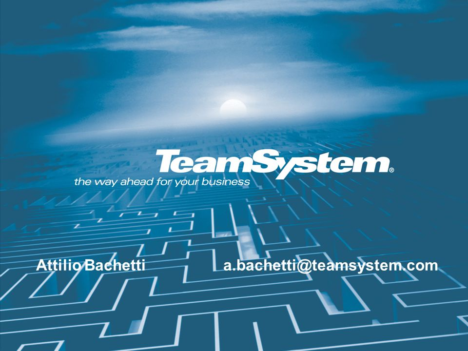 Attilio Bachetti a.bachetti@teamsystem.com