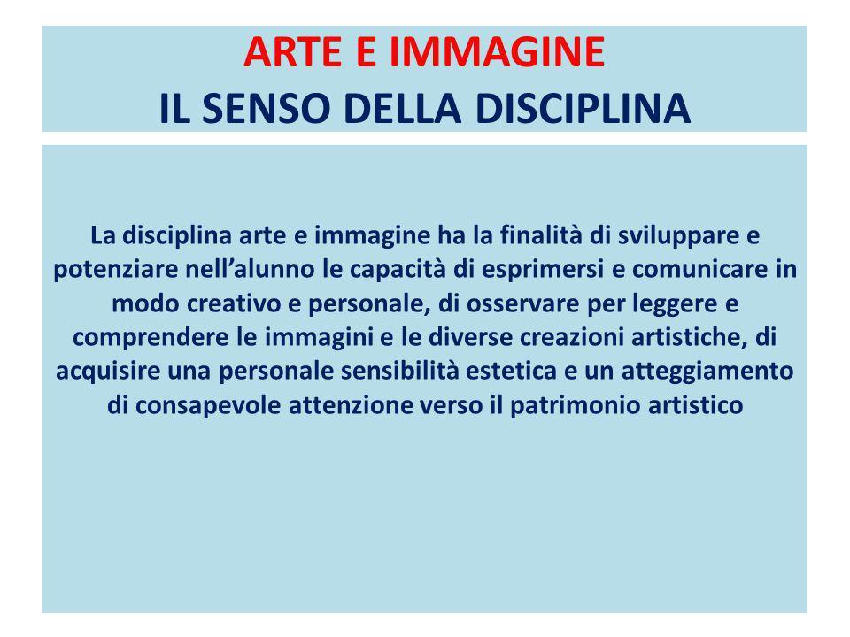 ARTE E IMMAGINE IL SENSO DELLA DISCIPLINA