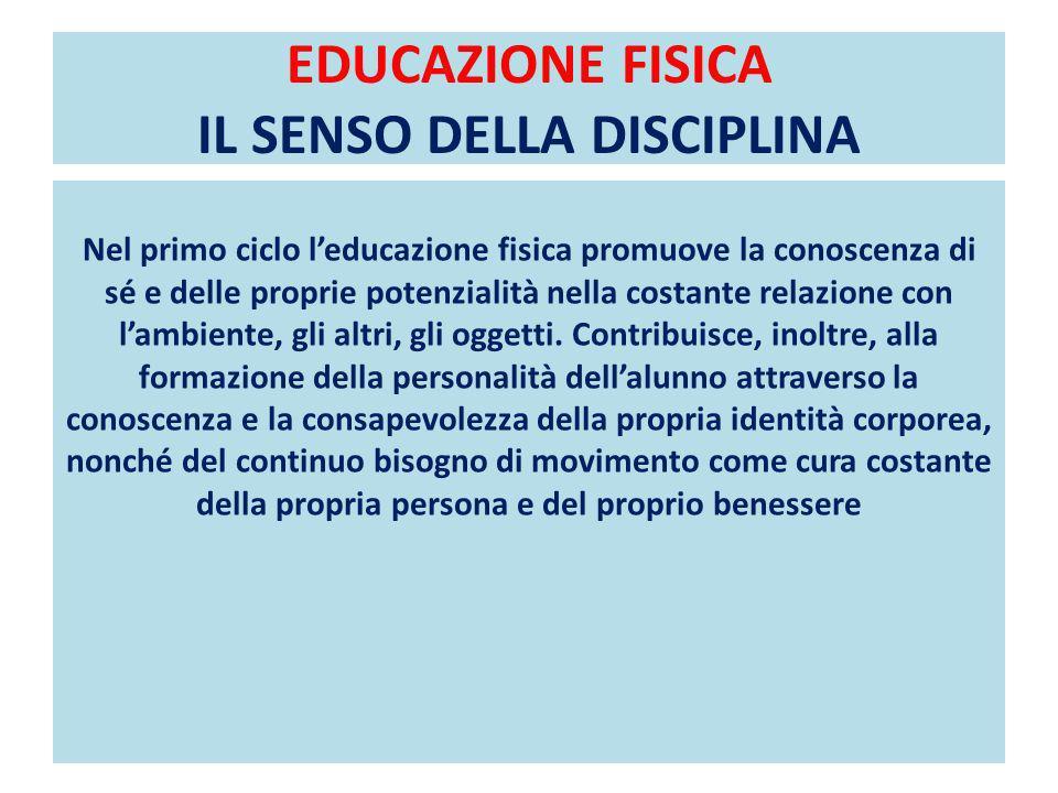 EDUCAZIONE FISICA IL SENSO DELLA DISCIPLINA