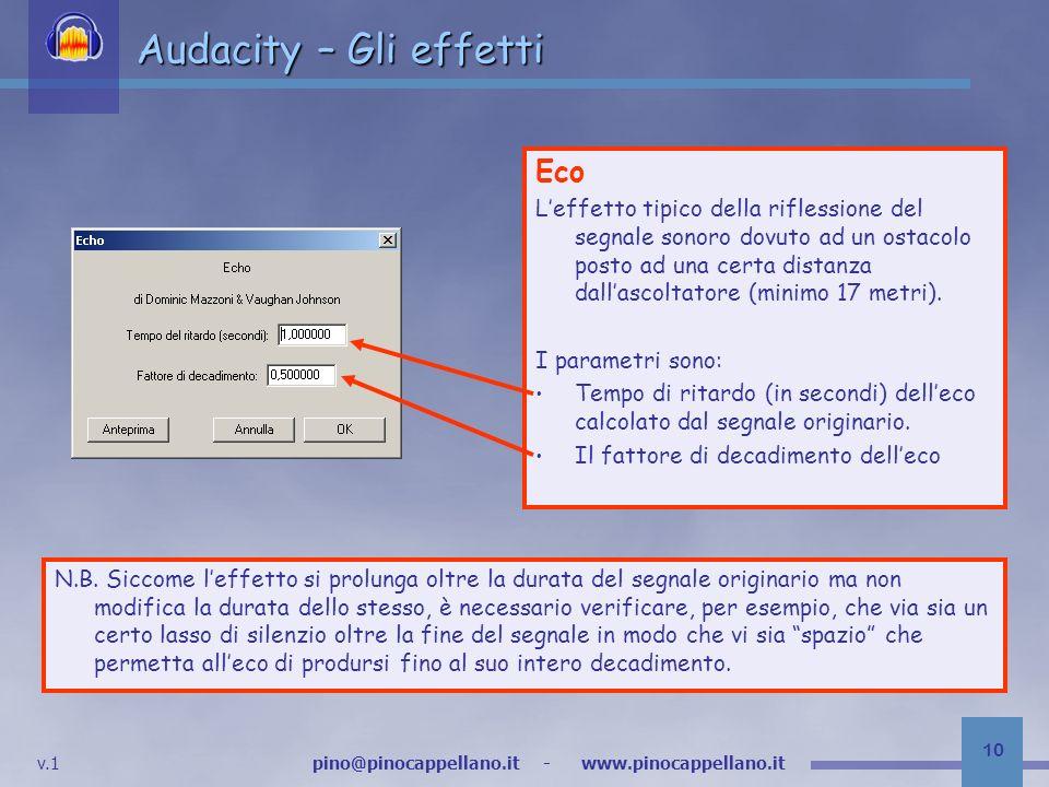 Audacity – Gli effetti Eco