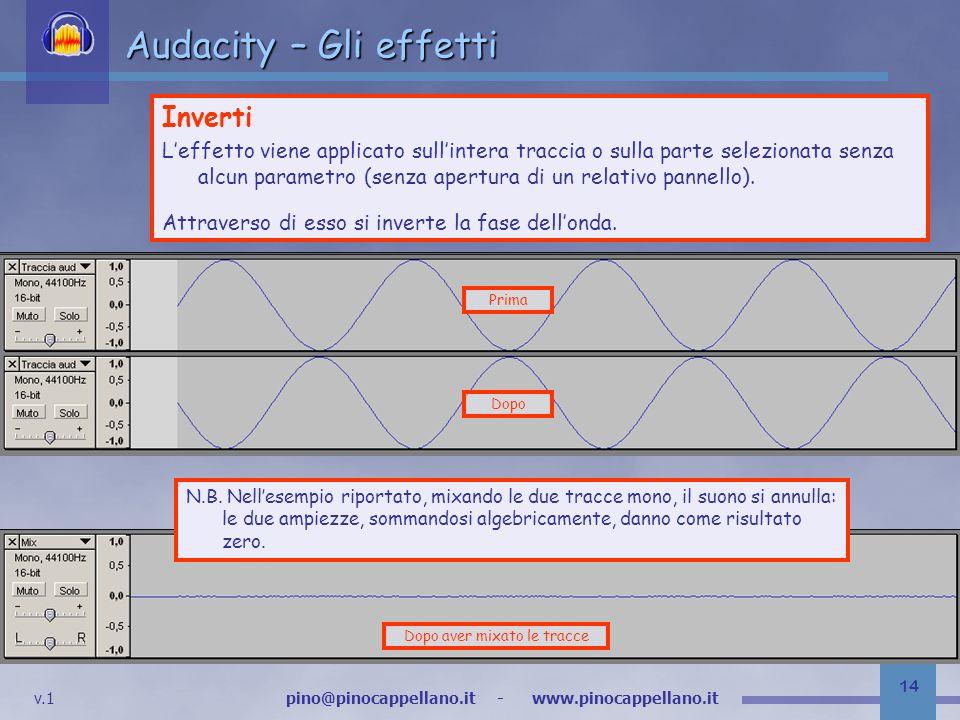 Audacity – Gli effetti Inverti