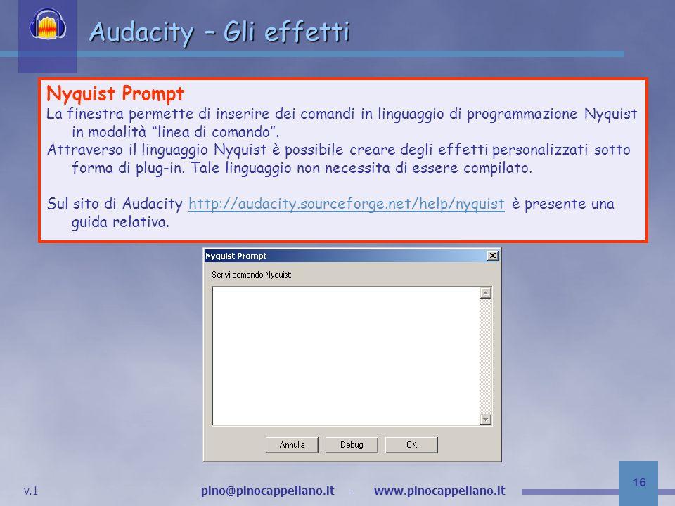 Audacity – Gli effetti Nyquist Prompt