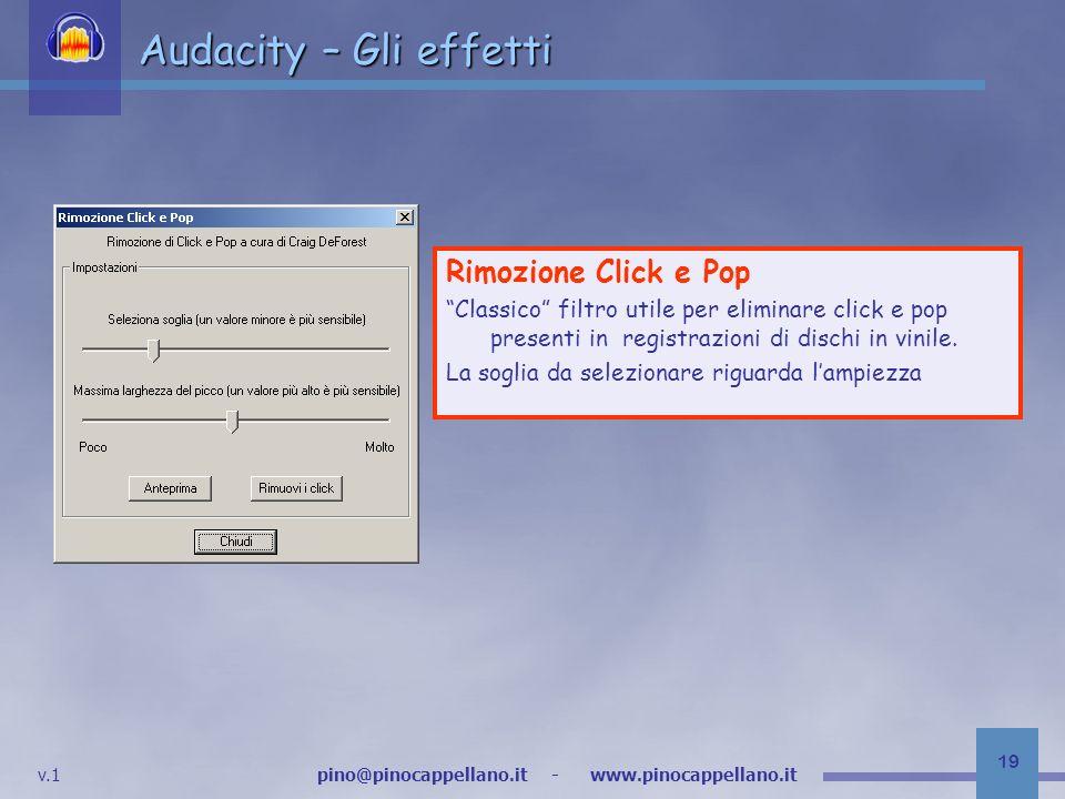 Audacity – Gli effetti Rimozione Click e Pop