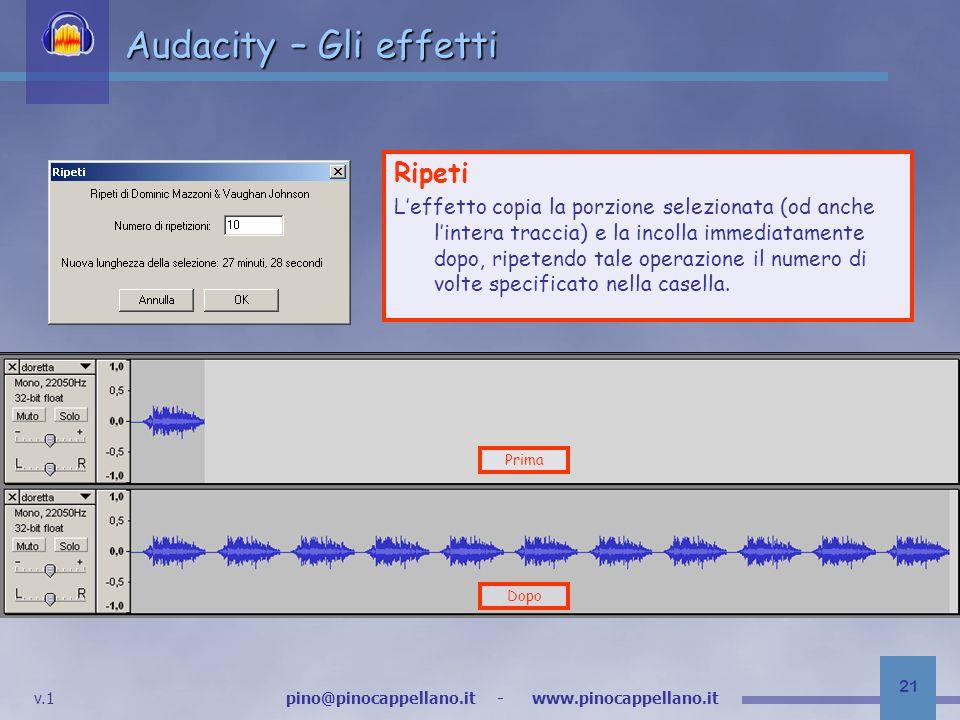 Audacity – Gli effetti Ripeti
