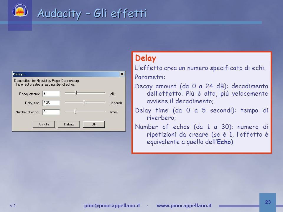 Audacity – Gli effetti Delay