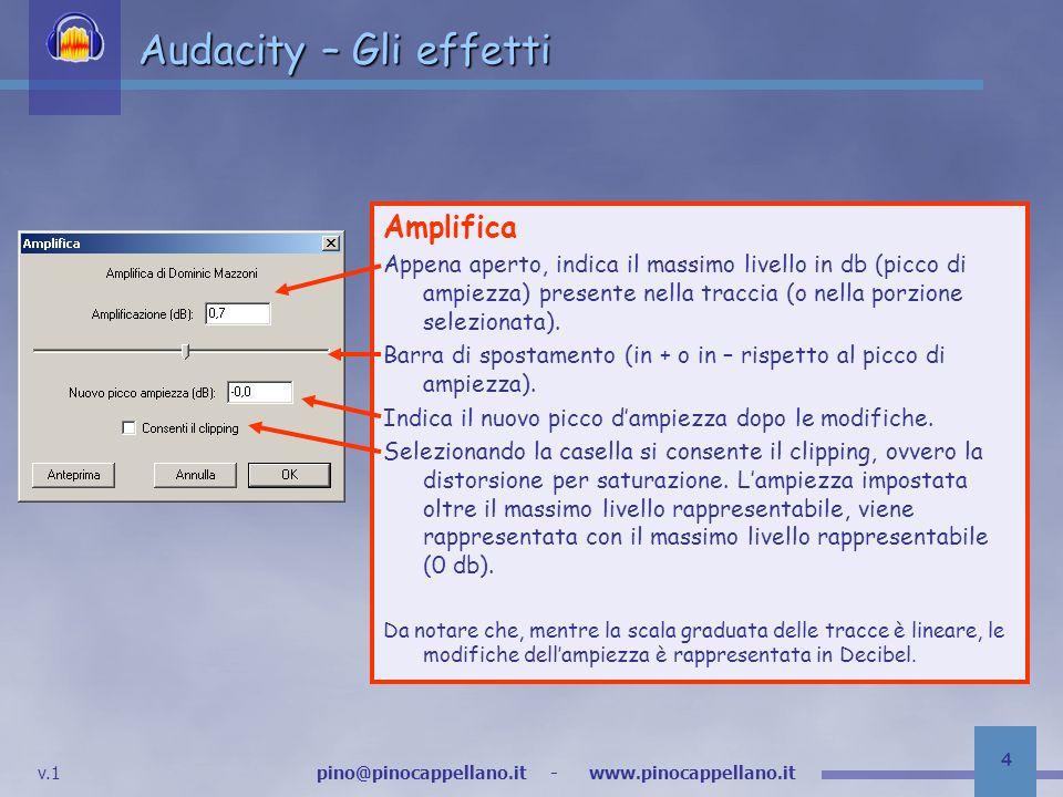 Audacity – Gli effetti Amplifica