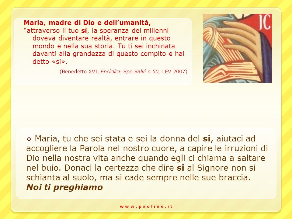 Maria, madre di Dio e dell'umanità,