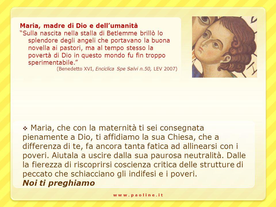 Maria, madre di Dio e dell'umanità