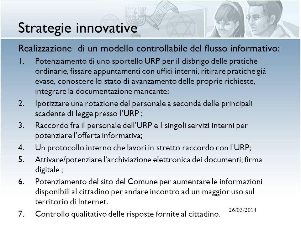 Strategie innovative Realizzazione di un modello controllabile del flusso informativo: