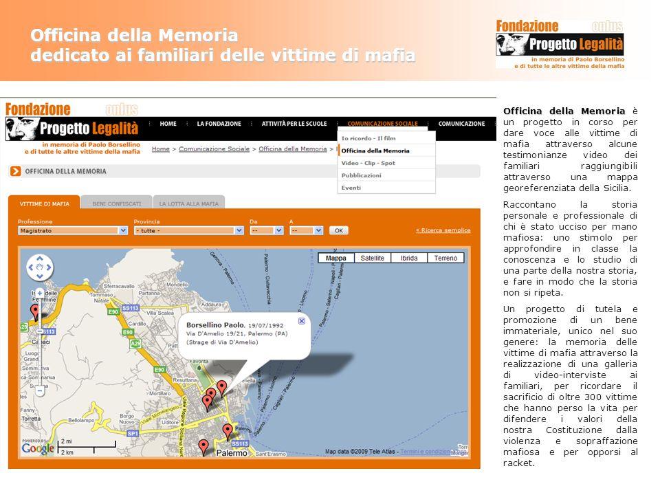 Officina della Memoria dedicato ai familiari delle vittime di mafia