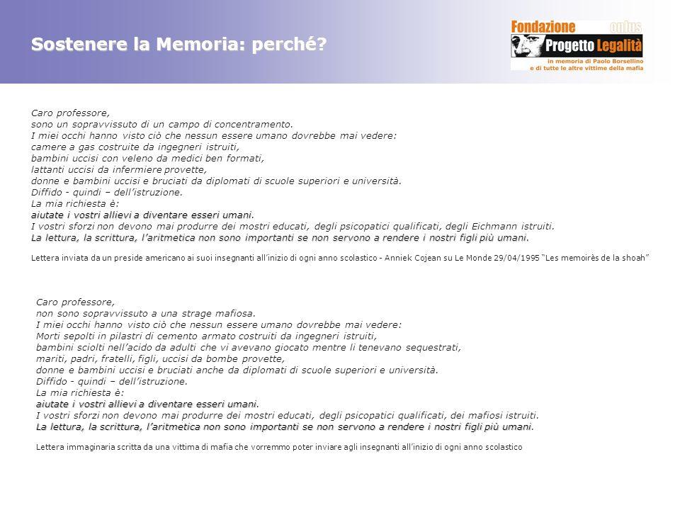 Sostenere la Memoria: perché