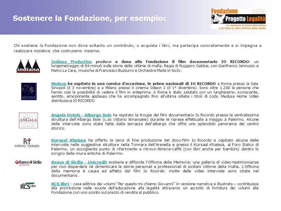 Sostenere la Fondazione, per esempio: