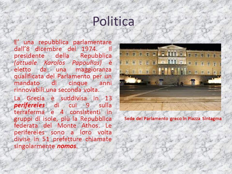 Sede del Parlamento greco in Piazza Sintagma