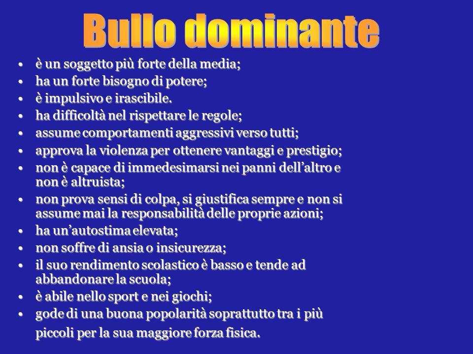 Bullo dominante • è un soggetto più forte della media;