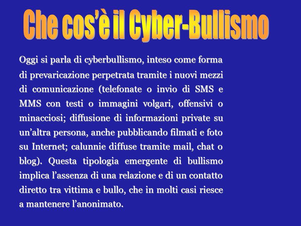 Che cos'è il Cyber-Bullismo