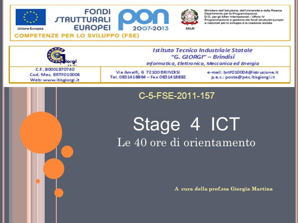 Stage 4 ICT Le 40 ore di orientamento