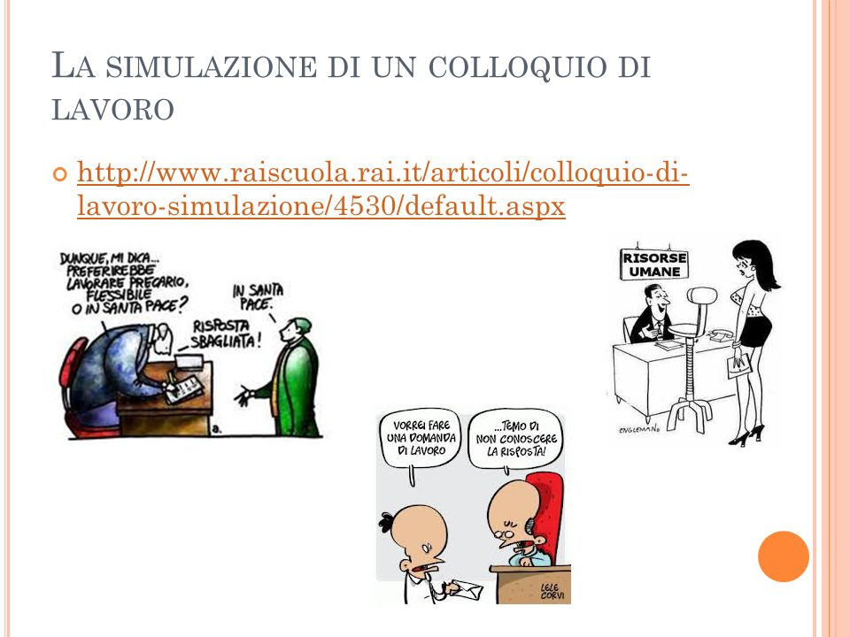 La simulazione di un colloquio di lavoro