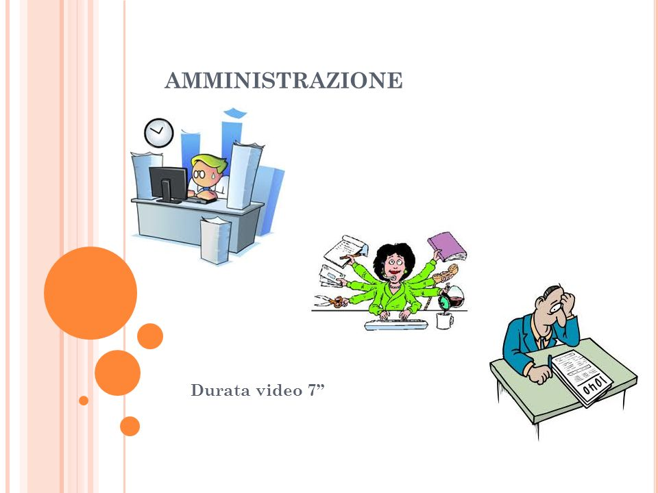 amministrazione Durata video 7''